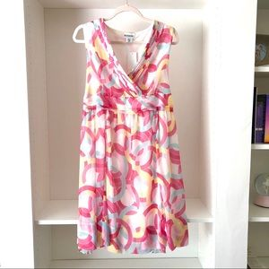 NWT Motherhood Maternity Multi-Color Dress Sz M